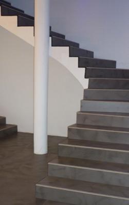 Photo panneaux beton cir roxipan - Beton cire escalier bois ...